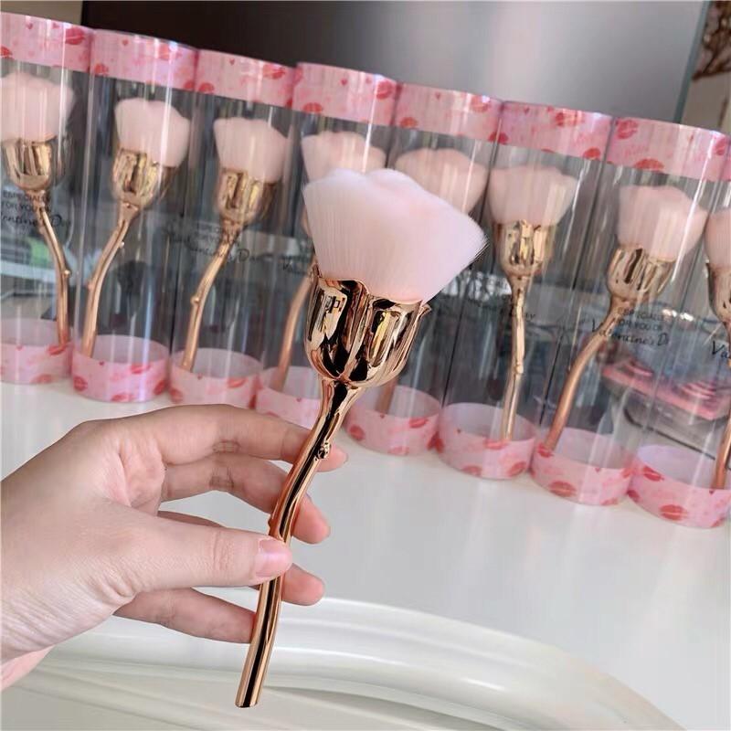 玫瑰花造型化妝刷散粉刷蜜粉刷高光刷粉餅刷定妝粉刷美妝用品