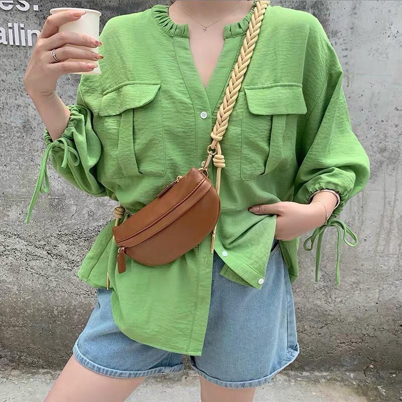 韓國直送麻花繩編織背帶手機包胸包小包女神必備出國小包