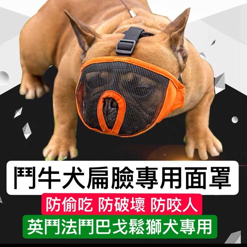 扁臉狗專用面罩防咬防偷吃防破壞防咬人寵物用品狗狗面罩
