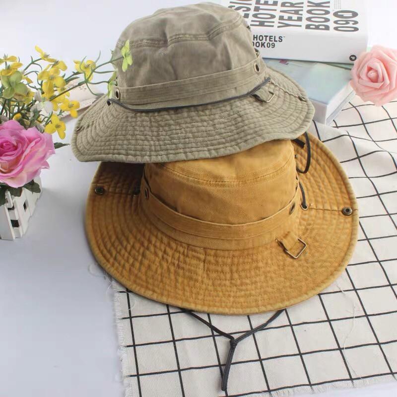日系工裝風格休閒個性登山帽防曬遮陽盆帽帥氣潮流漁夫帽男帽女帽