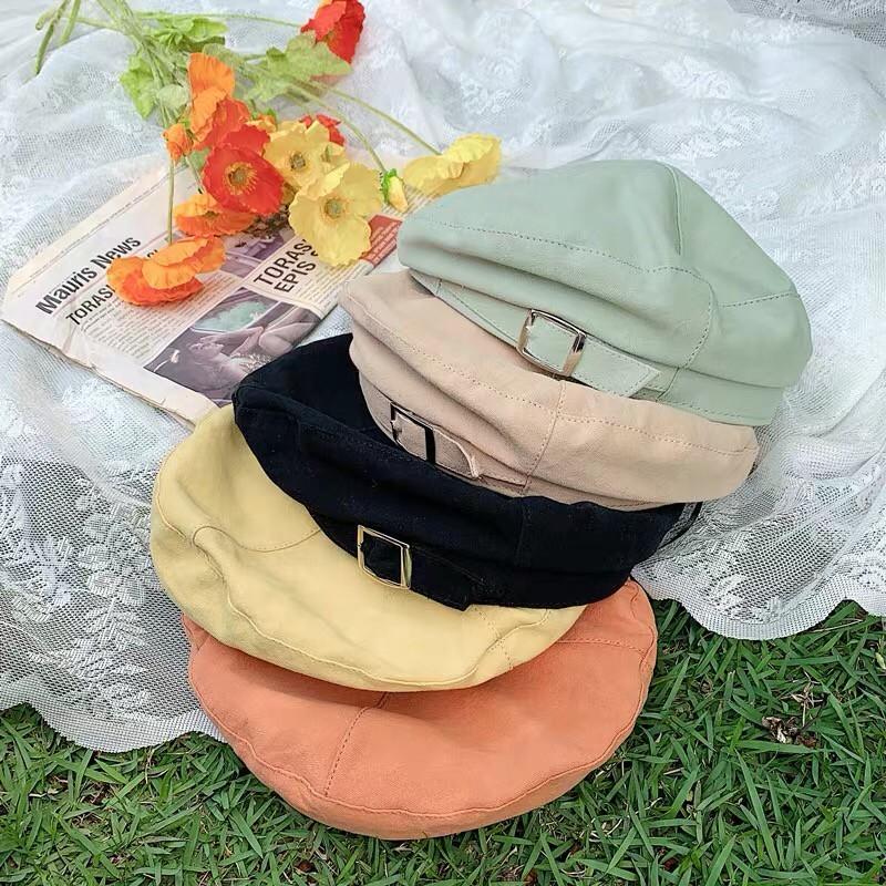 優雅英倫風格貝蕾帽造型南瓜帽復古八角帽網紅款氣質畫家帽