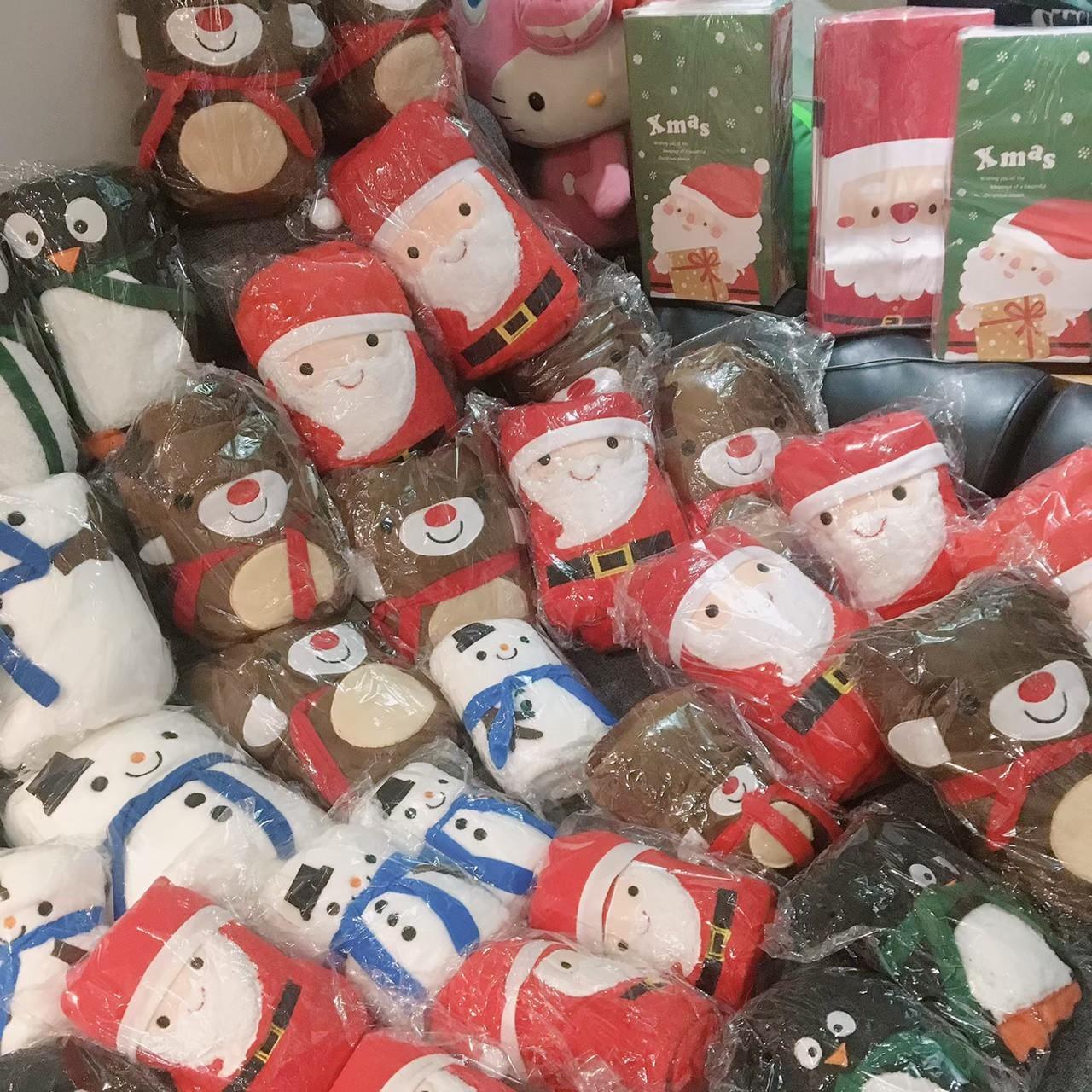 可愛系列造型保暖可收式毛毯空調毯客廳毯禮品首選聖誕交換禮物