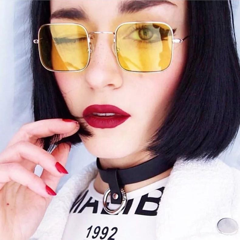 亮色透明方形墨鏡夏天必備太陽眼鏡遮陽防曬潮流墨鏡
