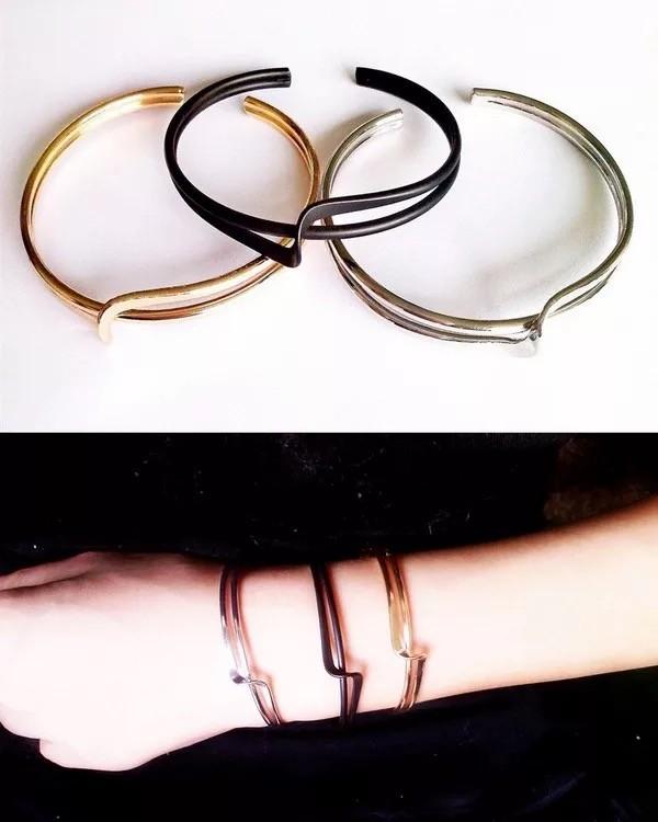 金屬線條細款個性簡約百搭手環手臂環