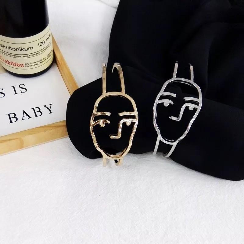 金屬人臉設計創意造型手環創意特色線條飾品