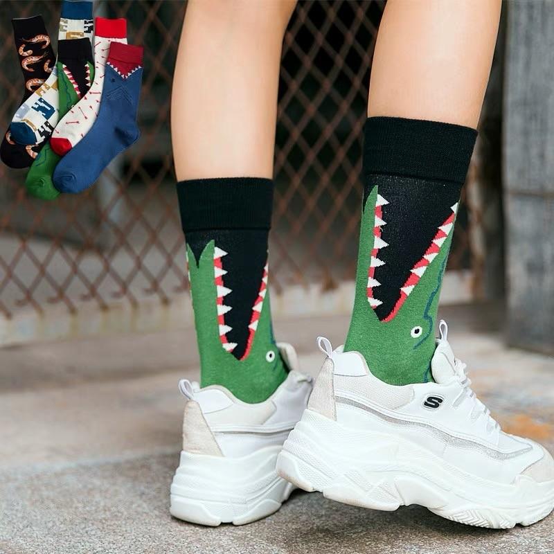 個性帥氣男朋友風潮流時髦造型中筒襪創意設計襪