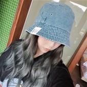 水洗牛仔仿舊漁夫帽子女帽韓國軟版百搭時尚遮陽帽日系休閒學生盆帽子