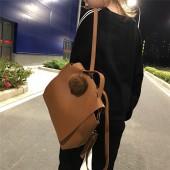 韓國質感簡約大容量後背包休閒學院風格翻蓋式雙肩背女包