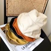 春夏韓國百搭波浪大帽檐遮陽帽防曬紫外線太陽帽蝴蝶結漁夫帽女盆帽