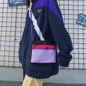潮流尼龍防水方形雙隔層出遊小包肩背側背手機包時髦胸背包男包女包