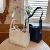韓國新款包包東大門子母包清新夏季網紅風手提包肩背圓桶包水桶包