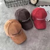 秋冬燈心絨氣質素色質感百搭簡約情侶帽男帽女帽遮陽防曬鴨舌帽老帽棒球帽