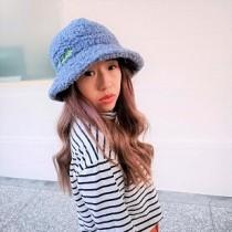 韓國羊羔毛造型漁夫帽保暖防曬帽優雅赫本風格造型帽