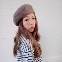韓國直送毛呢厚料硬挺質感貝蕾帽優雅日系畫家帽