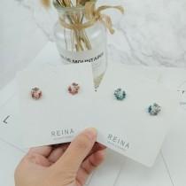 韓國小巧精緻月亮造型蛋白石鑽鑽耳釘耳環氣質簡約優雅貼耳耳環