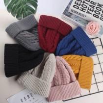 麻花編織針織毛線毛帽無球毛帽厚板毛線冷帽保暖防風造型毛帽