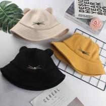 韓國萌萌貓咪造型漁夫帽可愛耳朵小貓咪盆帽網紅必備造型帽子
