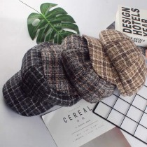 復古格紋英倫風格報童帽八角帽書僮帽時髦雜誌款鴨舌帽