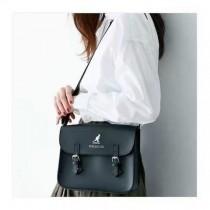 日本代購個性百搭簡約書包造型方形斜背包肩背包學院風格包