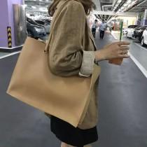 手提大購物袋方形隨性個性素面大包簡約托特包上班上課必備