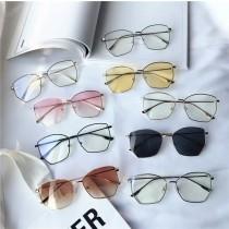 潮流帥氣特殊造型金屬框平光眼鏡透色太陽眼鏡墨鏡