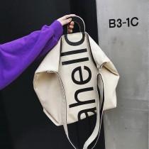 時髦英文字帆布大包手提包肩背側背容量大潮流包輕巧實用熱賣款