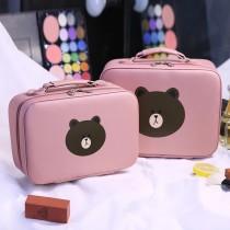 韓國熊熊造型手提式化妝箱大容量美妝箱攜帶方便化妝包美妝用品