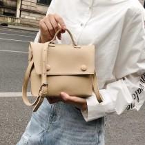 韓國手提方形翻蓋式斜背包肩背包簡約素面設計百搭氣質包中包子母包