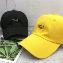 簡約百搭時髦可愛動物KUSO刺繡圖老帽潮流鴨舌帽棒球帽