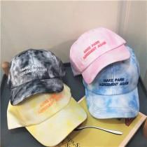 春夏粉嫩潑漆造型特色老帽防曬棒球帽鴨舌帽清新氣質造型帽子