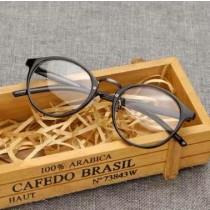 全框文藝平光鏡復古圓形眼鏡框小水滴造型眼鏡時髦文青眼鏡