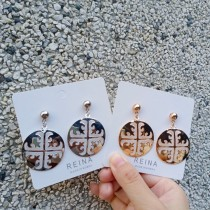 韓國簡約圓形造型金色銀色耳釘耳環百搭個性夾式耳環