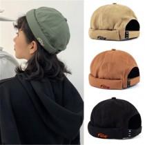 日系潮流工裝帆布圓頂帽瓜皮帽潮流人士必備造型帽百搭帥氣男女帽