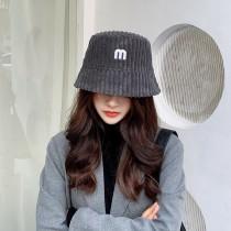 韓國甜美厚毛料燈心絨保暖造型漁夫帽盆帽韓妞必備造型女帽