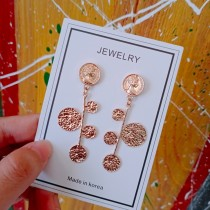 簡約金屬圓形設計長形個性百搭造型耳釘耳環幾何圖形耳環