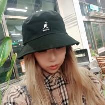 日本代購文青時髦百搭工裝風格袋鼠漁夫帽個性素色男帽女帽盆帽