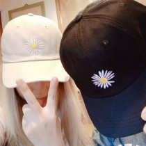 GD同款刺繡花兒笑臉花造型老帽潮流鴨舌帽男女帽情侶帽