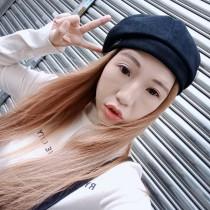 韓國直送氣質優雅素款英文字貝蕾帽南瓜帽報童帽百搭畫家帽