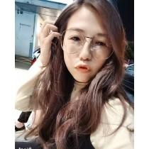 韓國網紅必備大水滴復古文青風格時髦造型平光眼鏡造型框眼鏡