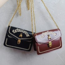 熱賣款金屬動物造型方形包質感刺繡鏈帶小方包肩背包斜背包女包