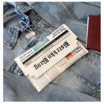 雜誌樣式造型手拿包扁包手機包鏈帶包斜背包肩背包時髦潮流小包