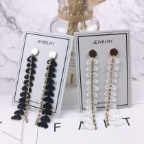 韓國金屬圓形耳釘蕾絲長形鑽鑽耳環氣質優雅修飾臉型造型耳環