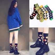 韓國KUSO食物水果普普風格造型俏皮潮流可愛時髦百搭中長筒襪男襪女襪
