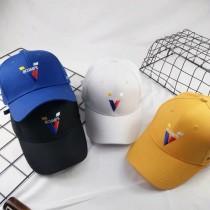 王嘉爾同款帥氣老帽棒球帽鴨舌帽英文字刺繡帽造型帽防曬帽男帽女帽