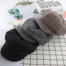 歐美英倫風格紋造型軟毛呢料書僮帽報童帽造型帽