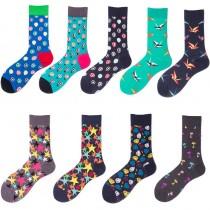 可愛圖案普普風格潮流色系中筒襪長襪繽紛滑板襪