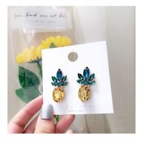 鳳梨造型鑽鑽耳釘耳環blingbling水果造型可愛旺旺來夾式耳環