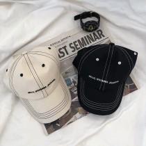 黑白經典配色線條帥氣個性百搭老帽遮陽防曬造型鴨舌帽棒球帽男帽女帽情侶帽