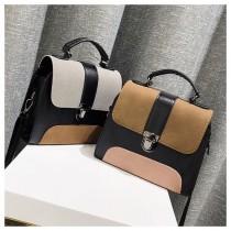 韓國磨砂皮革方形手提小包淑女氣質肩背包側背包硬殼女包