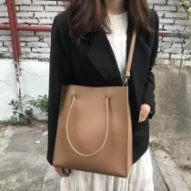 熱賣款休閒個性文青方形包包大容量手提包OL公文包肩背包側背包